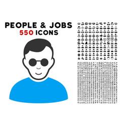 Blind man icon with bonus vector