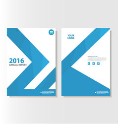 Blue annual report Leaflet Brochure Flyer vector