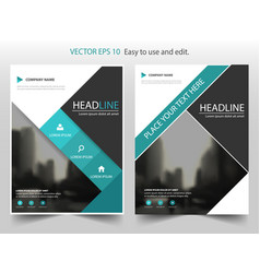 blue black abstract square annual report leaflet vector image