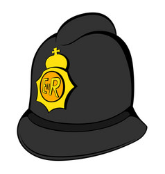 British police helmet icon cartoon vector