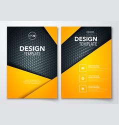 Brochure design with dark metal texture background vector