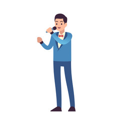 Classical musicians vocalist singers performing vector