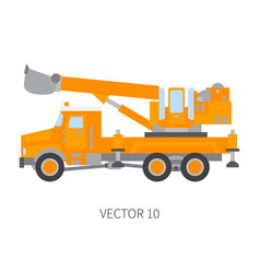 color plain icon construction machinery vector image