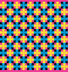 Colorful geometric pattern in memphis style vector