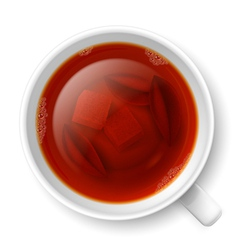 Cup of black tea vector image