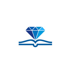 diamond book logo icon design vector image