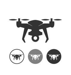Drone silhouette symbol design icon set vector