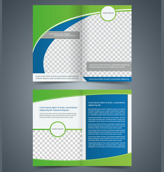 empty bifold brochure template design vector image