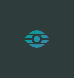 eye simple logo camera shutter photo video vector image