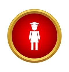 Female university student icon simple style vector image