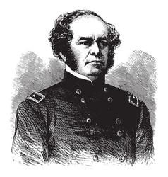 general henry w benham vintage vector image