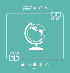 globe symbol - icon vector image