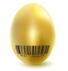 gold egg best vector image