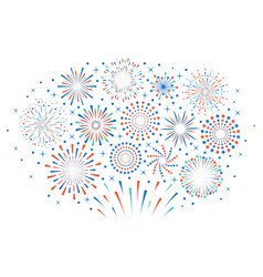 happy 4th july fireworks celebration firework vector image