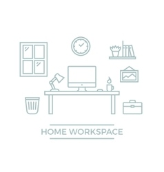 Home Workspace vector