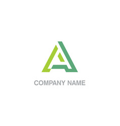 initial letter a business logo vector image