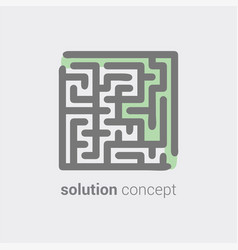 Labyrinth as symbol conceptual vision in solution vector