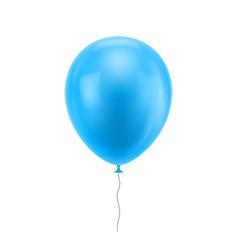 light blue realistic balloon vector image