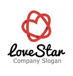 Love Star Design vector