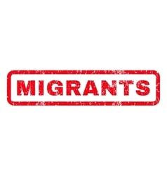 Migrants Rubber Stamp vector