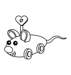 mouse toy cartoon vector image