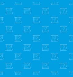 night window pattern seamless blue vector image