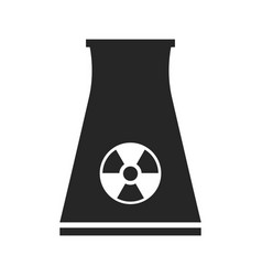 Nuclear power plant flat icon isolated on white vector