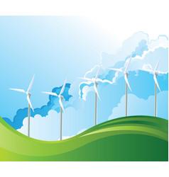 Onshore wind turbines vector