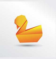 origami duck vector image