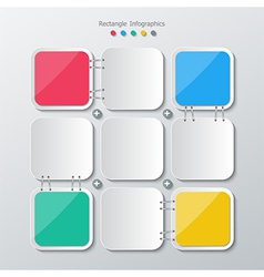 Paper polygon infographics vector