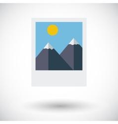 Photo icon vector image