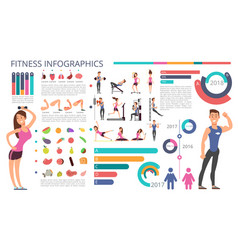 Physical activity fitness and healthy lifestyle vector
