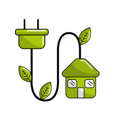 Reduce power cable icon vector