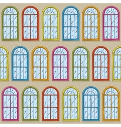 Seamless Pattern with Color Windows vector image
