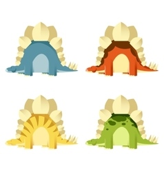 Set of stegosaurs vector image