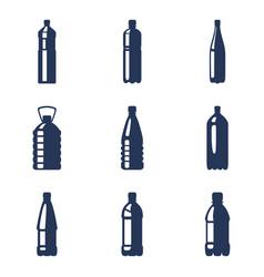 Set plastic bottle icons vector