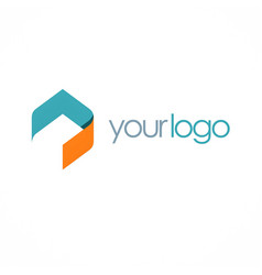 shape polygon business logo vector image