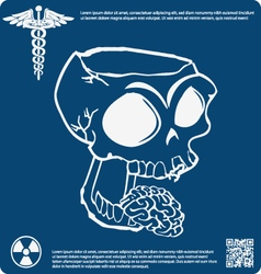 Skull X ray 13 vector