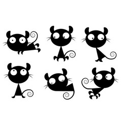 small images of cats vector image