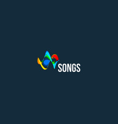 songs abstract logo audio wave design icon vector image