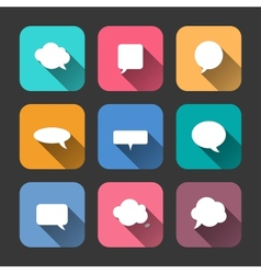 Speech Bubbles Icons Set in Flat Style vector