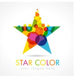 star color logo vector image