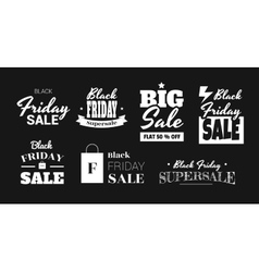 stickers are on sale black friday vector image