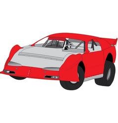 Super sedan speedway car vector