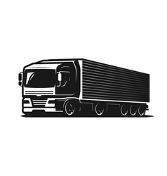 Truck lorry or delivery logo trucking industry vector