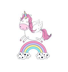 unicorn for t-shirt design vector image