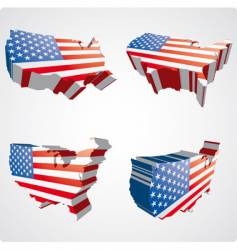 USA 3D views vector image
