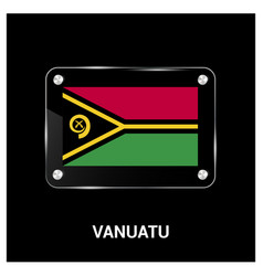 vanuatu flag design vector image