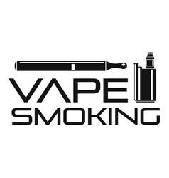 vape man smoking logo simple style vector image
