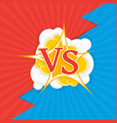 versus letters fight backgrounds vector image